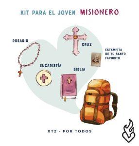 Kit para el joven misionero. Foto: XT2