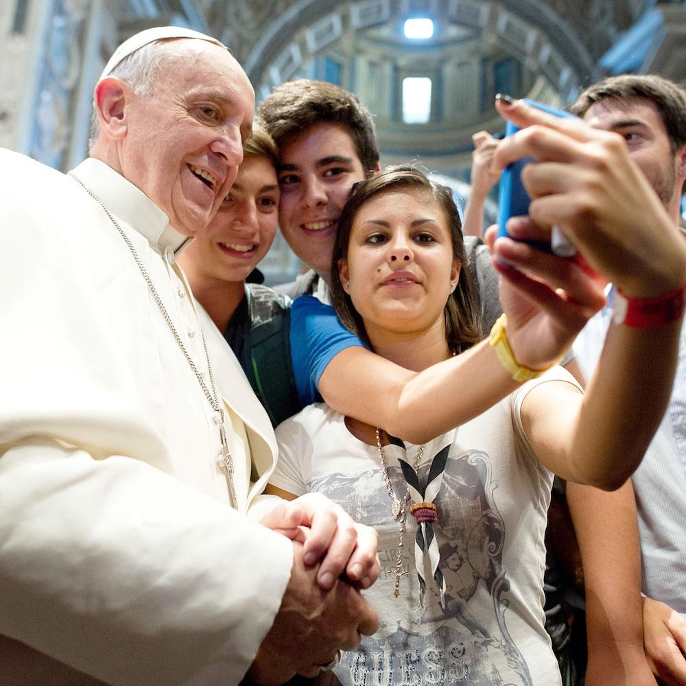 El Papa Francisco inspira a los jóvenes. Foto: Opus Dei