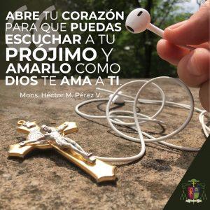 Abre tu corazón para que puedas escuchar al prójimo